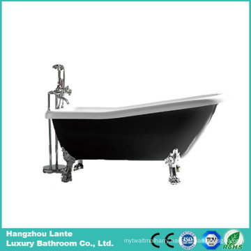 Hot Black Color Acrylic Classic Bath Tub with Foot (LT-11TB)