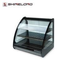 K611 vitrine de réchauffement de verre courbé