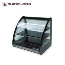 K611 Curved Glass Warming Food Showcase