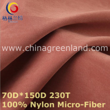 100%Nylon Micro-Fiber Fabric for Winter Coat Textile (GLLML428)