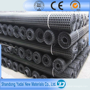 Biaxial Plastic Geogrid 20/20kn-150/150kn HDPE Road Construction