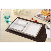 new product stackable square plate dinnerware