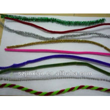 Guirnalda de oropel de Navidad, oropel de brillo, guirnalda decorativa de oropel