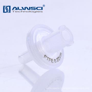 Vente chaude fabricant 13mm 25mm hydrophobe ptfe seringue filtre 0.22um membrane