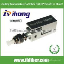 Fc / pc adaptador de fibra desnuda tipo cuadrado con carcasa metálica