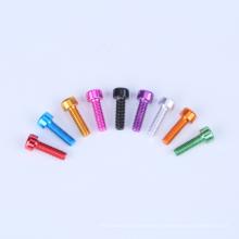 Customized hexagon socket bolt cap aluminum key screw