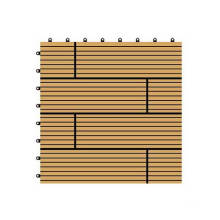 300*300*22mm Decorative WPC DIY Floor Tile, Wood Plastic Composite Decking
