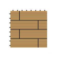 300 * 300 * 22mm WPC decorativo DIY assoalho telha, plástico de madeira Composto Decking