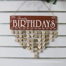 Family Birthday Board Calendar Sign Plaque Faith Family Friends Birthday Calendar