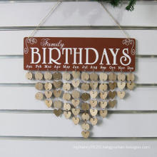 Family Birthday Board Calendar Sign Plaque Faith Family Friends Birthday Calendar