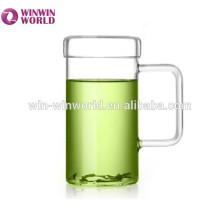 Taza de cristal bordada de la taza del Borosilicate del Pyrex de la vajilla del regalo promocional