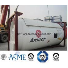 18bar, 22 Bar tanque contenedor para gas licuado, amoníaco con válvulas de acero al carbono de 24000L 20FT