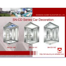 Cabine d'ascenseur avec panneau de cheveux (SN-CD-140)