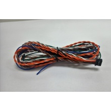 Twisted wire harness with MOLEX housing