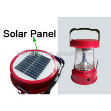 Plastic ABS/Transparent PC ultra bright led lantern camping solar energy lantern