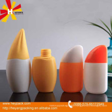 Beautiful cute bodycare cream storage plastic fruit shape bottle
