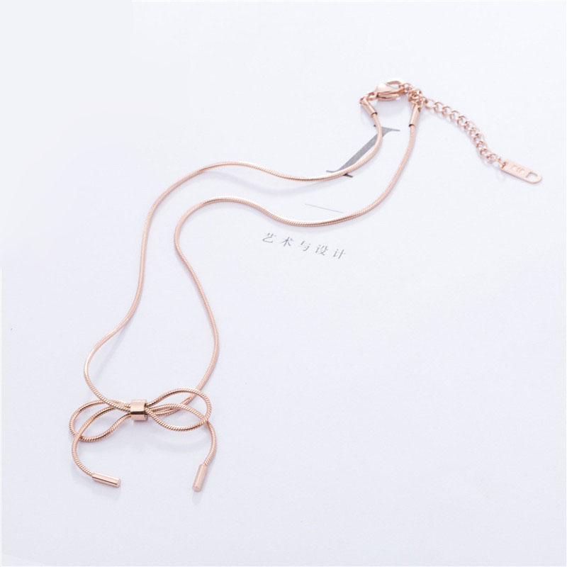Long Necklace Rose Gold
