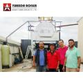 Caldera de vapor de fogonero de rejilla móvil de carbón industrial