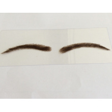 Dentelle de cheveux humains attachés à la main en gros ou faux sourcil de base de PU