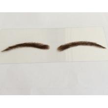 atacado personalizado mão-amarrado cabelo humano rendas ou base de PU sobrancelha falsa