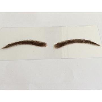 cordón personalizado a mano al por mayor del pelo humano o ceja falsa de la base de la PU