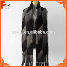 2015 Fashion Knitted Mink Scarf Fur Scarf