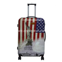 Hardshell lugagge with Statue of Liberty Printing