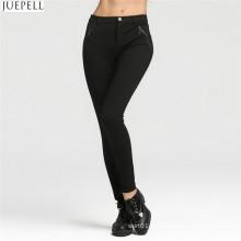 Modèles d'automne Femmes Leggings Sexy Thin Black Stretch Pencil Pantalons Pantalons