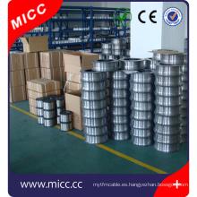 Cable de elemento de calentamiento redondo MICC NiCr 6015 para uso industrial