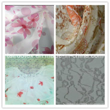 Mousseline de polyester avec finition imprimée
