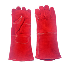 16 Inch Red Heavy Duty Leather Safety Working Gloves for Welding