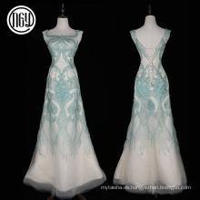 Los vestidos de noche elegantes alibaba largos de alta gama del trabajo hecho a mano de las mujeres