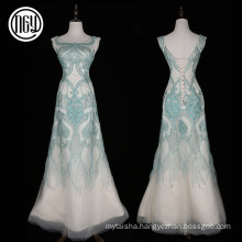 High-end handwork women's elegant long alibaba evening dresses