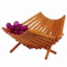 Folding bamboo fruit basket can be used to hold fruits, OEM oders are welcome
