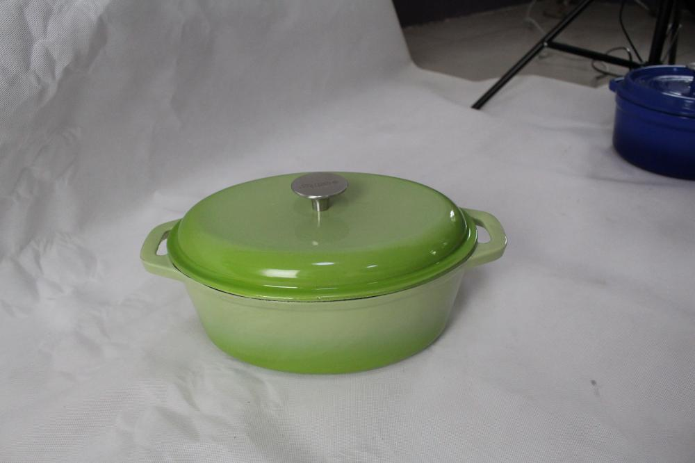 Oval Cast Iron Pot