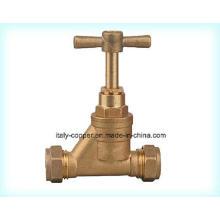 Personalizado de latón de calidad forjado válvula de bola de parada de compresión (AV2013)