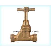 Customized Quality Brass Forged Compression Stop Ball Valve (AV2013)