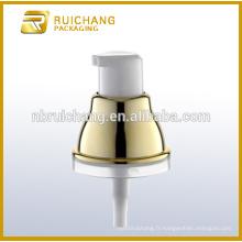 Pompe de lotion de revêtement UV en plastique / pompe à loches crème de 18 mm / distributeur de pompe à lotions de revêtement uv