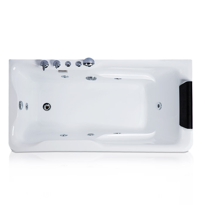 Alice Acrylic Corner Whirlpool Bathtub Against the Wall