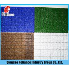 6mm klar verdrahtetes Glas / klares Nashiji verdrahtetes Muster Glas / Bronze Nashiji verdrahtetes Muster Glas / blaues verdrahtetes Glas / graues verdrahtetes Glas
