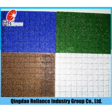 6mm Clear Wired Glass / Clear Nashiji Padrão com fio Vidro / Bronze Nashiji Padrão com fio Vidro / Azul Vidro com fio / Grey Wired Glass