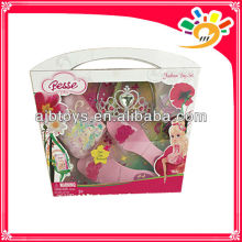 Pretty Girls Plastic Princess Make Up Toy High-heel Shoe Toy,Handbag,Crown Toy
