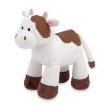 Suave de encargo de peluche de juguete de Navidad de vaca personalizada de juguetes de peluche