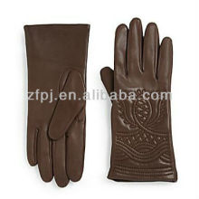 Gants de broderie au style tibétain Gant en cuir