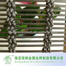 Malla de alambre decorativo de metal para gabinete