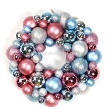 45cm plastic Decorative battery lighted christmas ball wreath