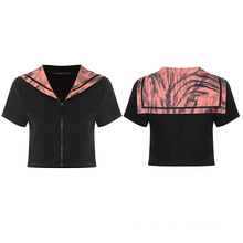 2021 new arrival summer Chinese style OPT-514TDF short sleeve  printed uniform tops woman tops fashionable sexy