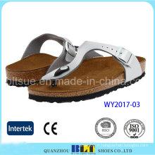 Chaussures blanches de liège de matériaux de chaussures des Etats-Unis
