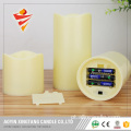 "3 ""Pillar LED Candle Flameless Candle with Remote"