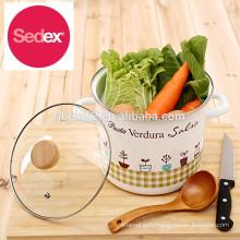hot sale 26cm enamel Cooking Pot/ 8/10qt enamel stock pot